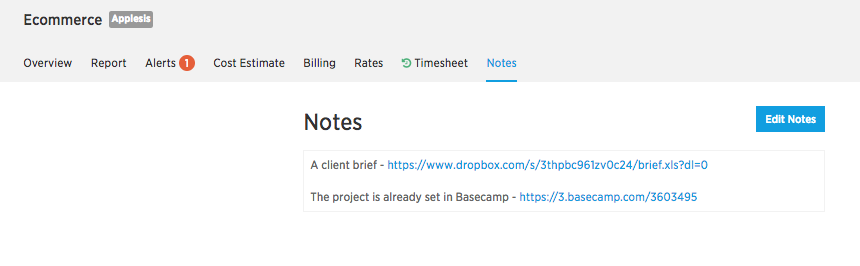 Project-notes