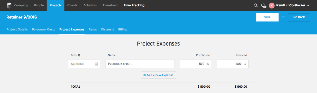 Project-expenses
