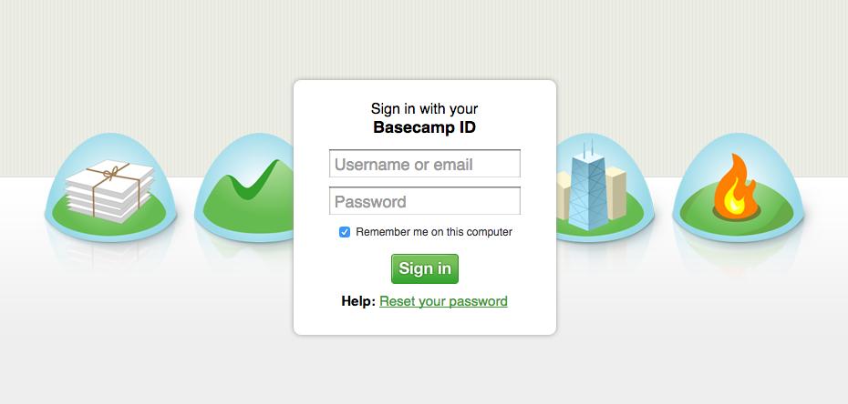 Basecamp-sign in