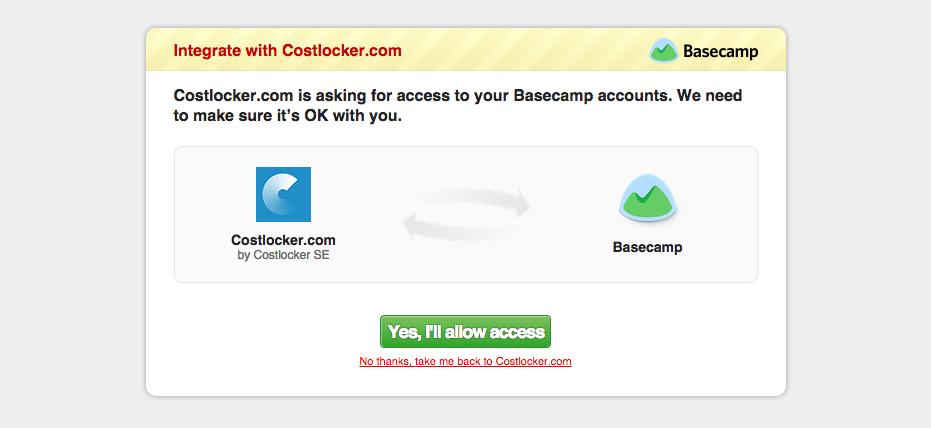 Basecamp integration-in progres
