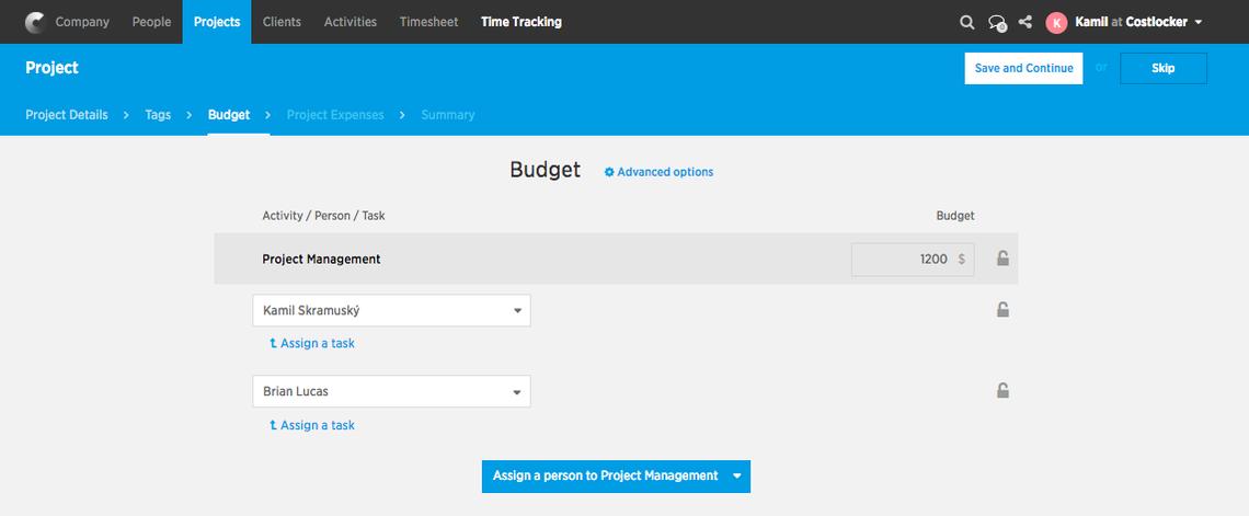 Rozpočet-fixní cena na dílčích částech projektu